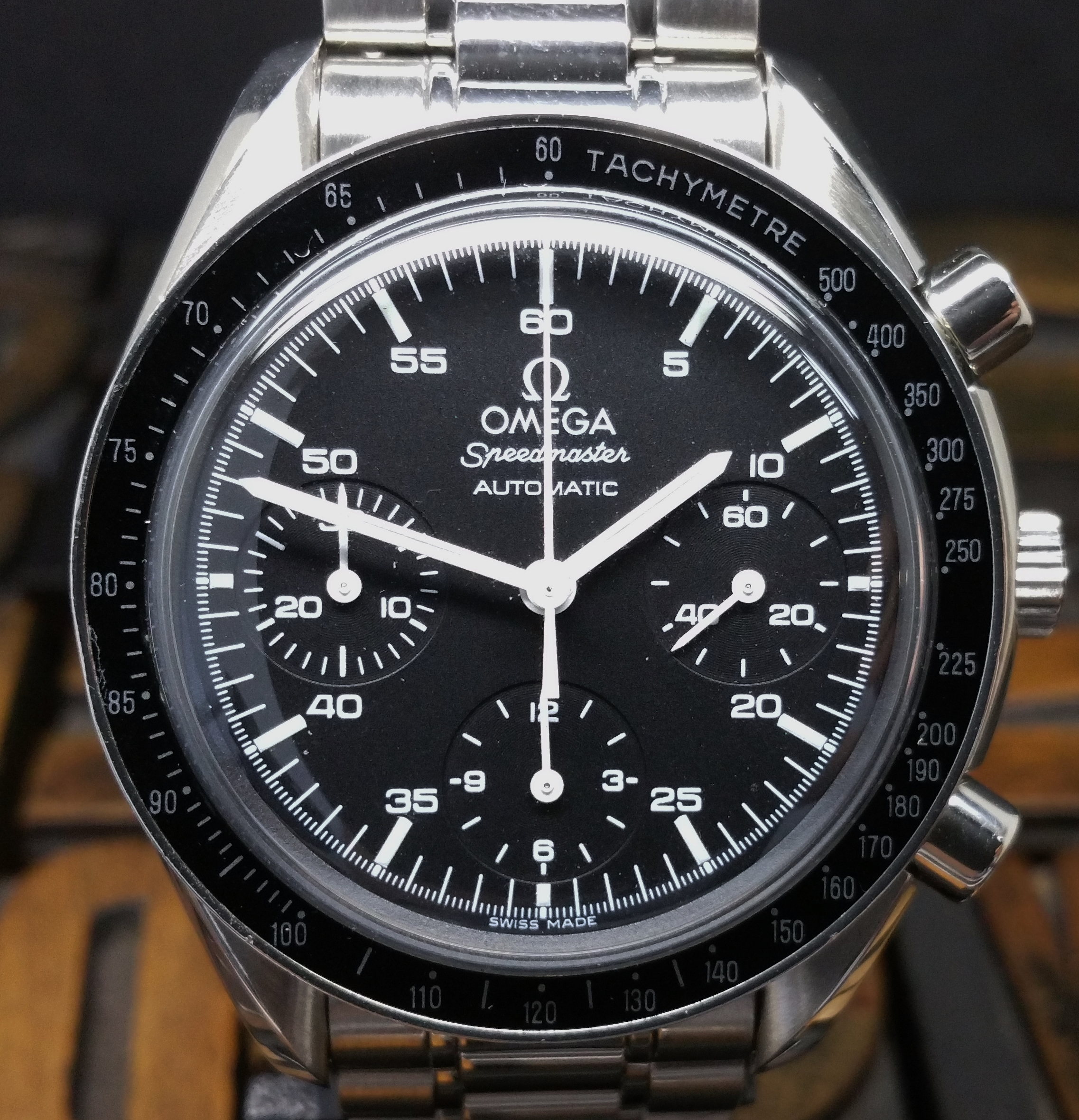 1998 Omega Speedmaster 35105000 Reduced with Box