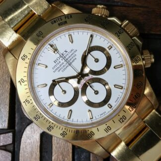 1999 Rolex Daytona Zenith Yellow Gold 16528 Unpolished with Box & Papers