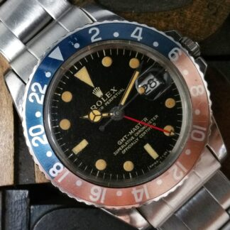 1965 Rolex GMT Master 1675 Tropical Glossy Gilt Dial