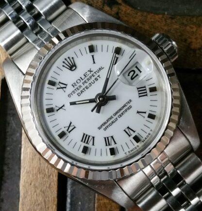 2003 Rolex Datejust Lady 69174 White Roman Dial