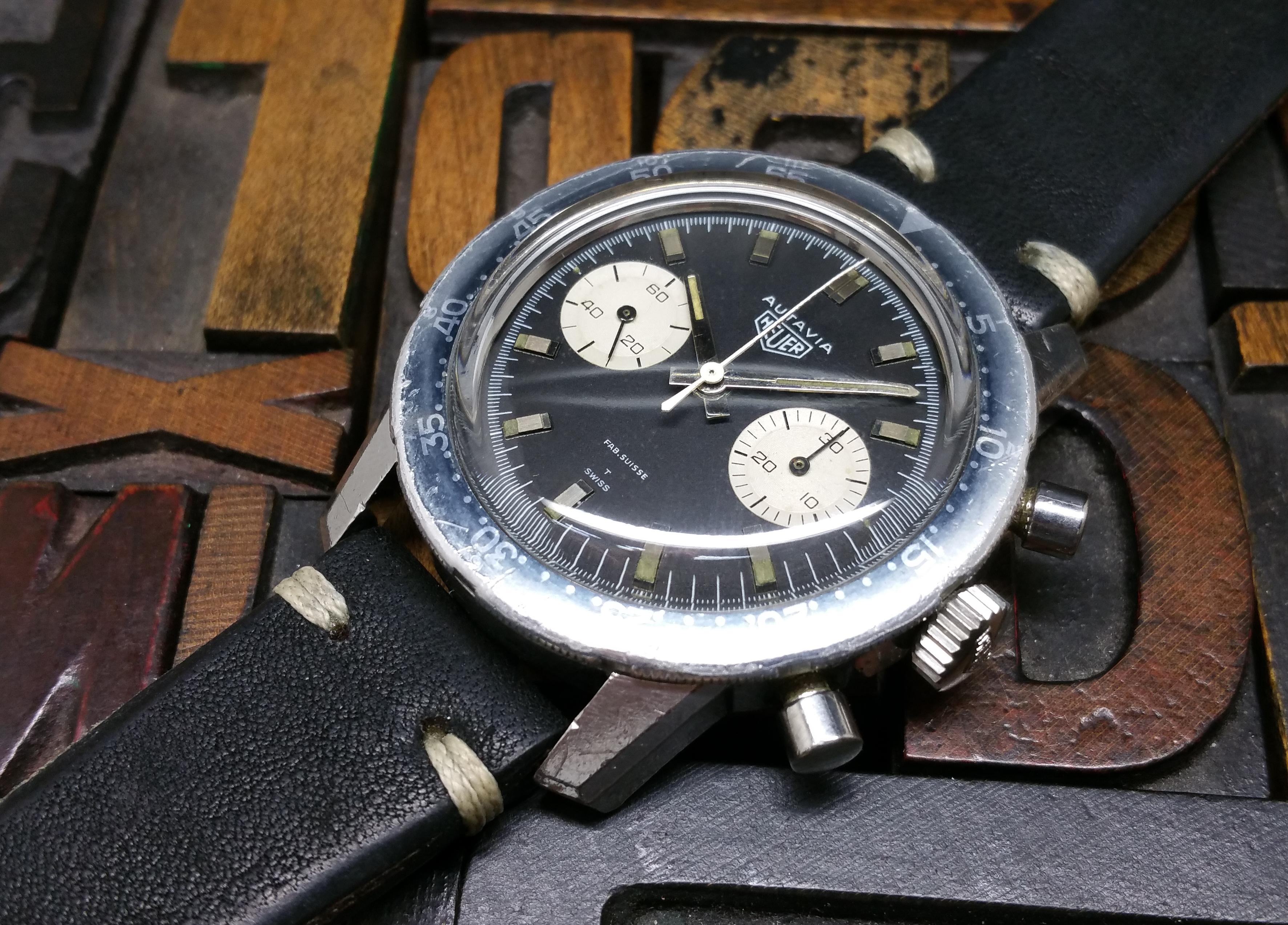 "1969 Heuer Autavia 7763 ""Fab. Suisse"" Dial"