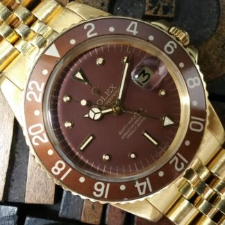 1978 Rolex GMT Master 1675/8 Brown Nipple Dial B&P
