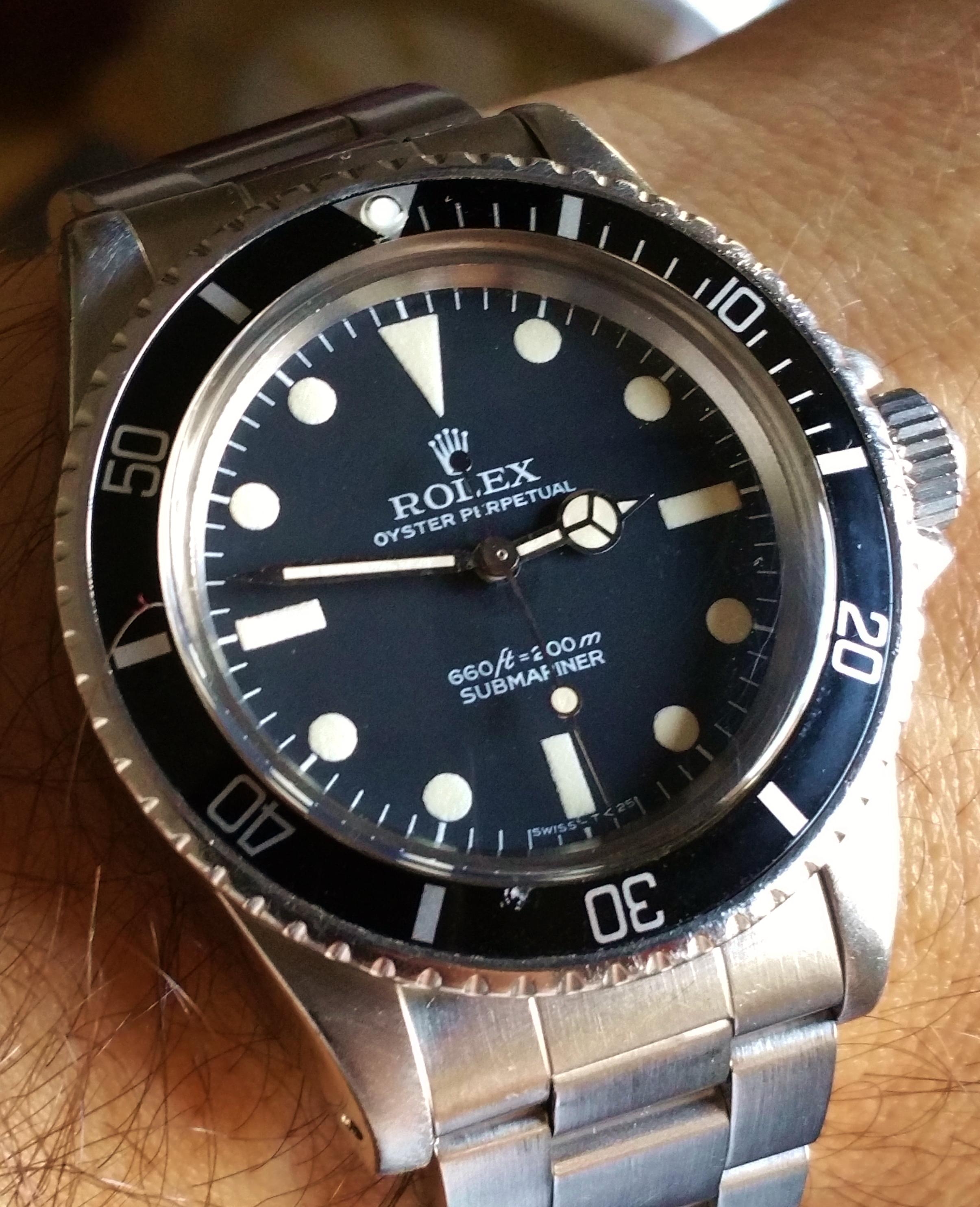 1977 Rolex Submariner 5513 Pre COMEX Dial