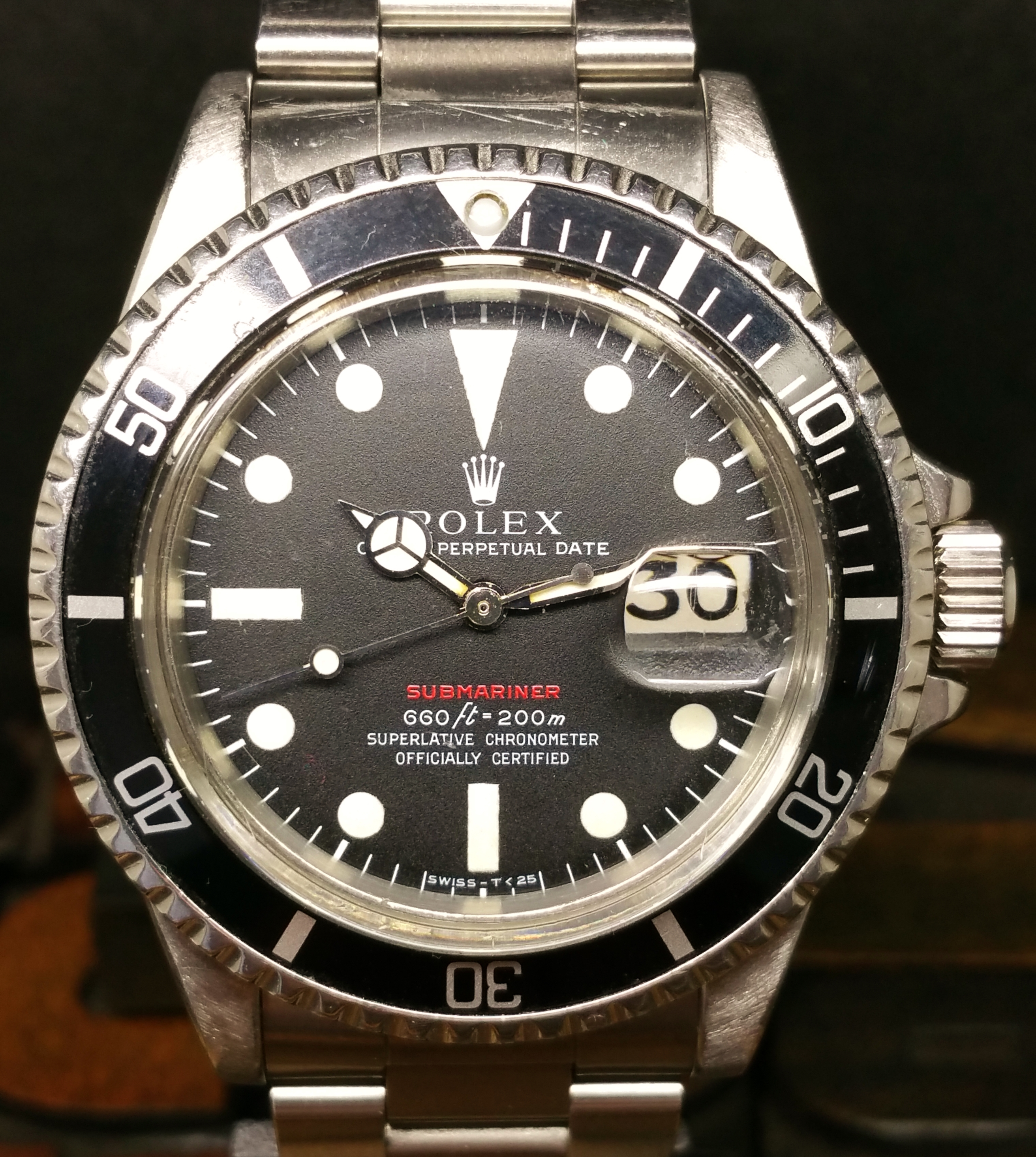 1972 Rolex Submariner Red 1680 Mark IV Dial