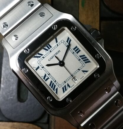 1996 Cartier Santos Galbée 1564 with Box and Papers NOS