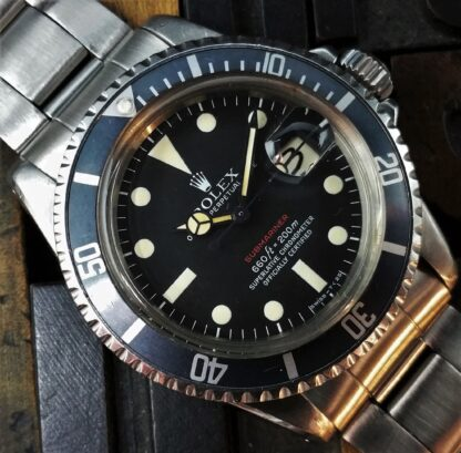 1972 Rolex Submariner Red 1680 Mark V Dial Unpolished