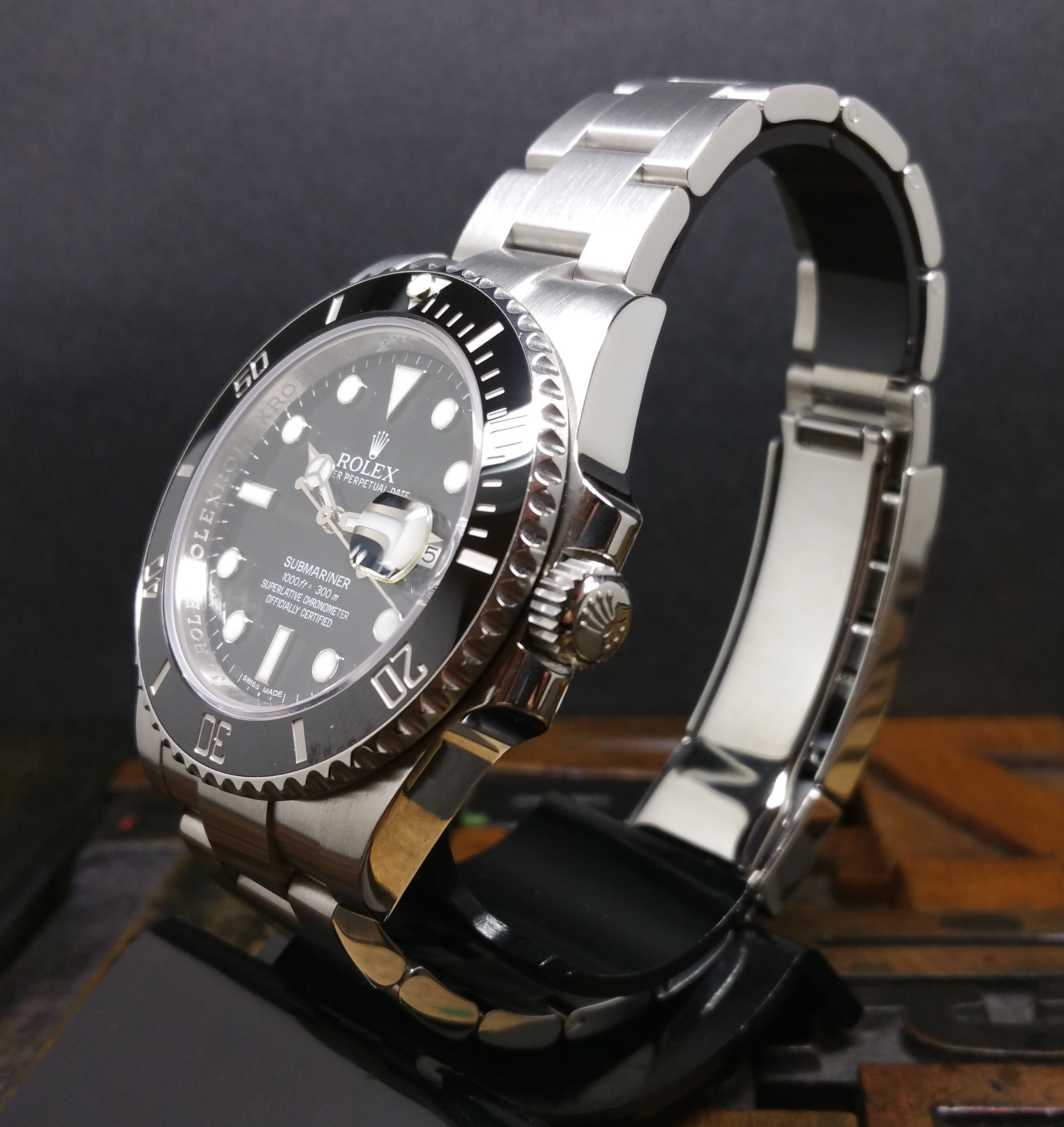 2015 Rolex Submariner Date 116610LN Ceramic Bezel with Box and Papers