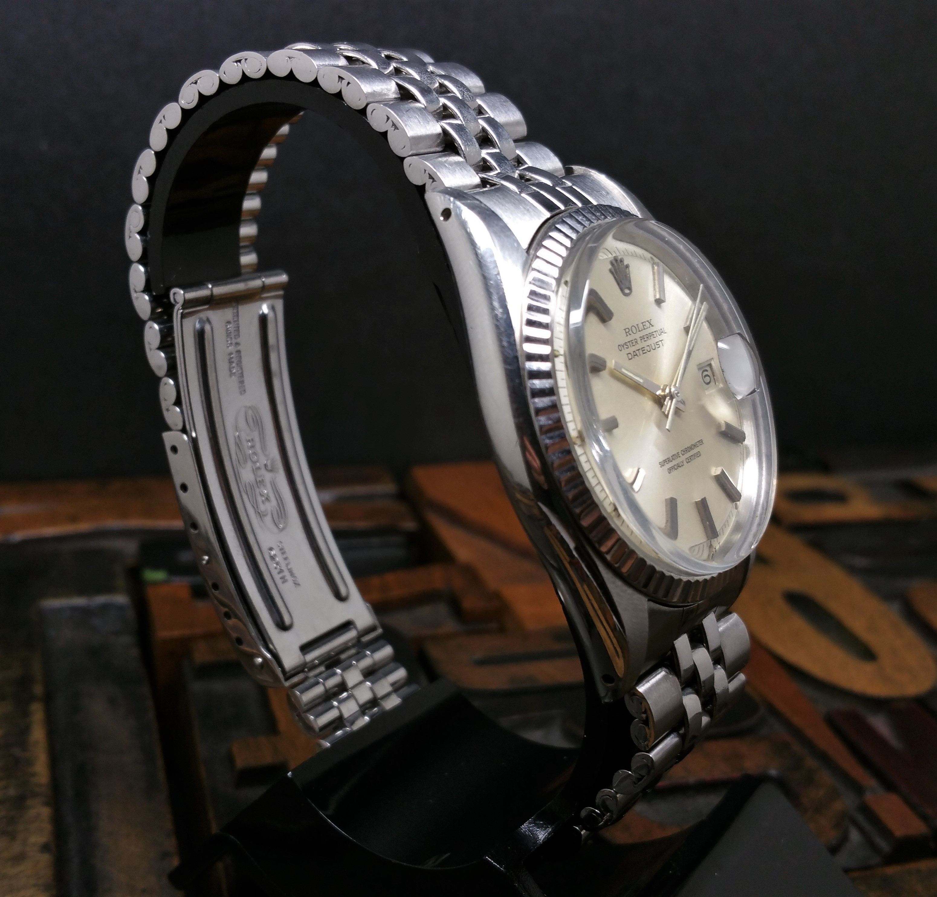 1971 Rolex Datejust 1601 Silver Dial with Papers