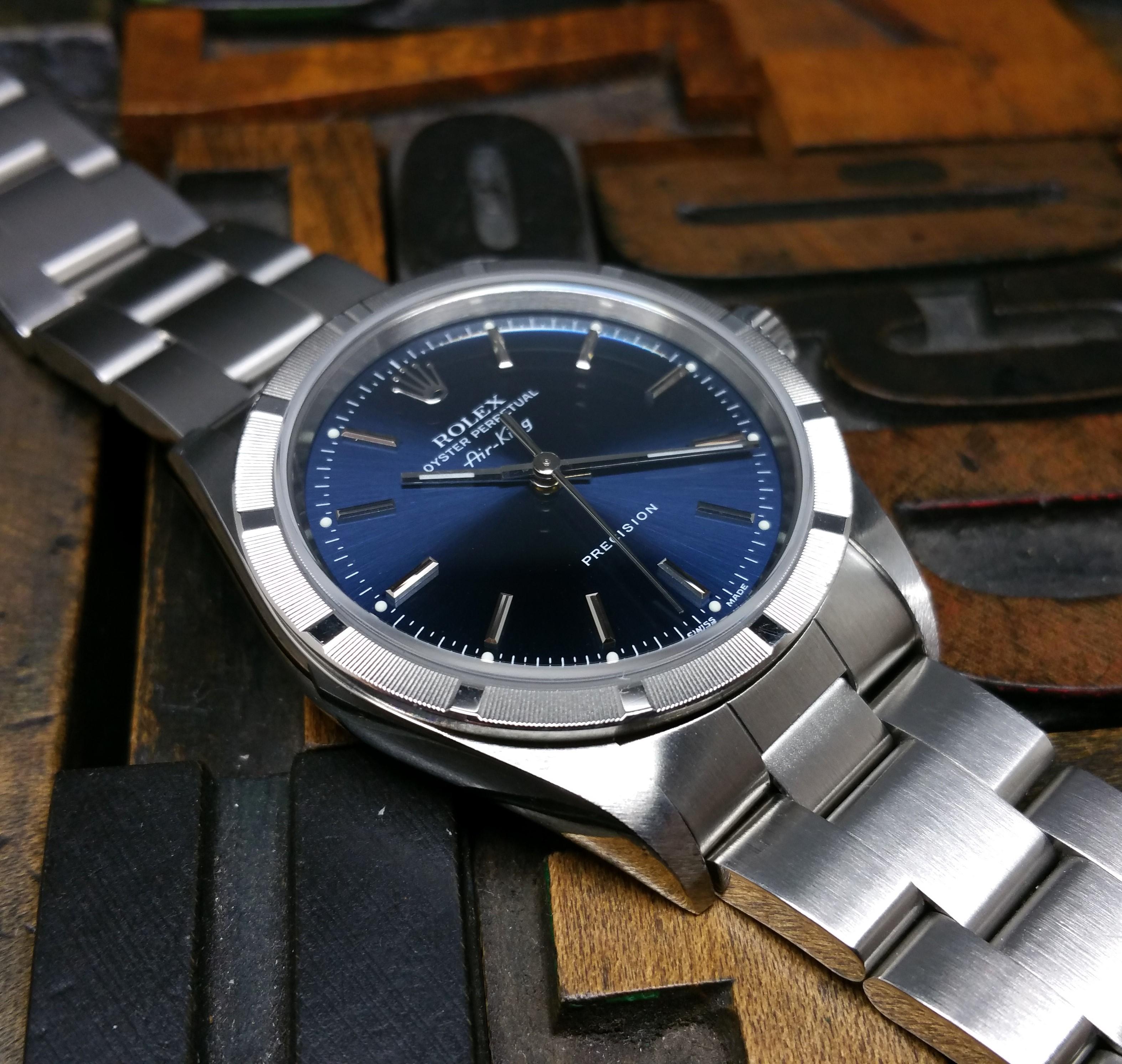 2010 Rolex Air King 14010 Blue Dial