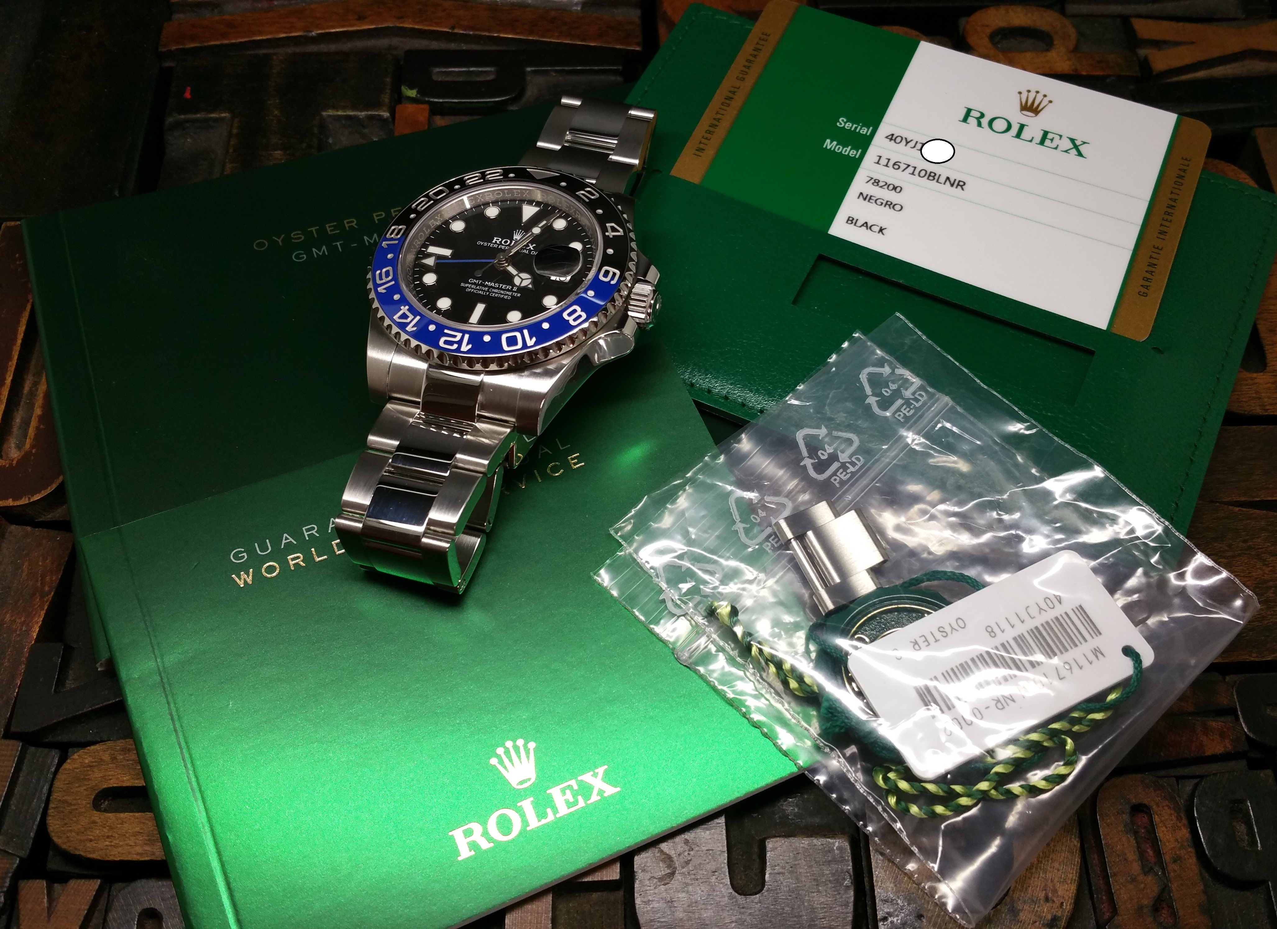 2017 Rolex GMT Master II 116710BLNR 'Batman' with Box and Papers