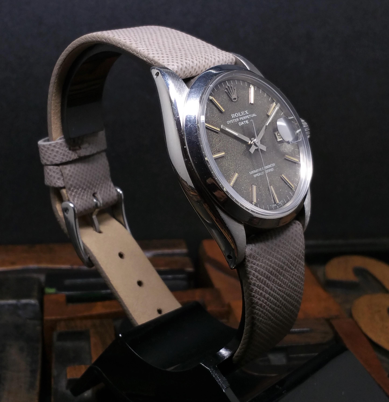 1969 Rolex Date 1500 Grey Tropical Dial