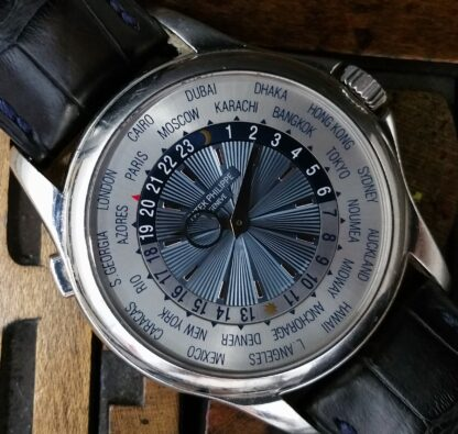 2012 Patek Philippe World Time Platinum 5130P with Box & Papers