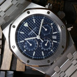 2006 Audemars Piguet Royal Oak Chrono Kasparov 25860ST Blue Dial Unpolished with Box & Papers