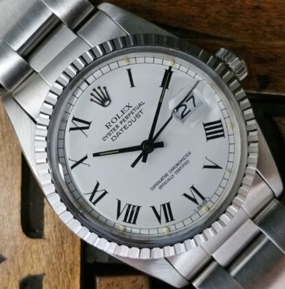 1982 Rolex Datejust 16030 White Bucley Dial