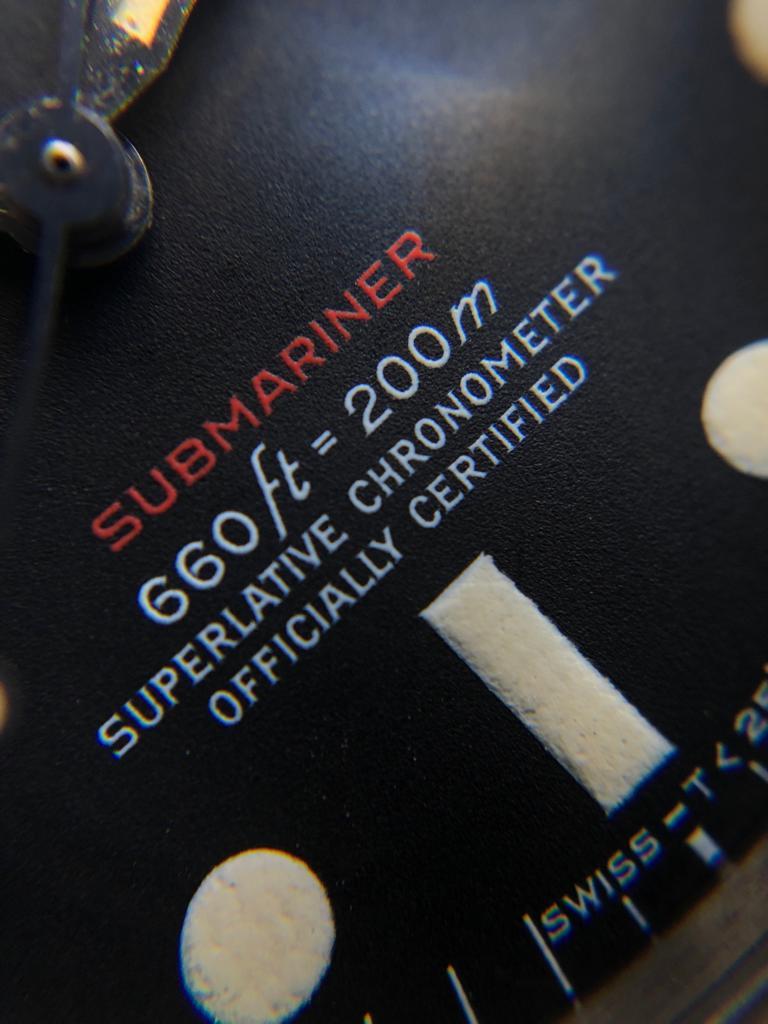 1972 Rolex Submariner Red 1680 Mark V Dial Unpolished