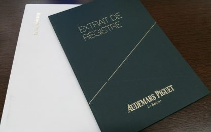 "1985 Audemars Piguet Royal Oak Yellow Gold 5402BA ""Jumbo"" with Extrait de Registre"